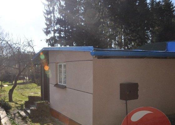 Nátěr plechové střechy cca cca 25 m²(přízemní budova)