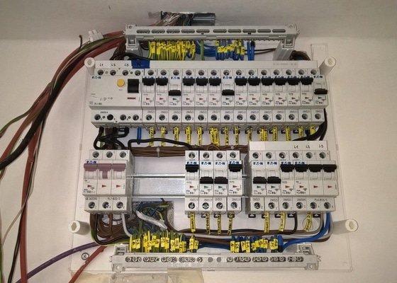 Elektroinstalace - část bytu 3+kk v panelovém domě