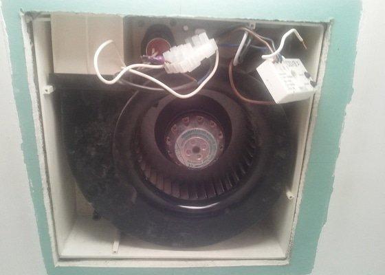 Oprava jednoho větracího ventilátoru a příslušné elektroniky v bytě