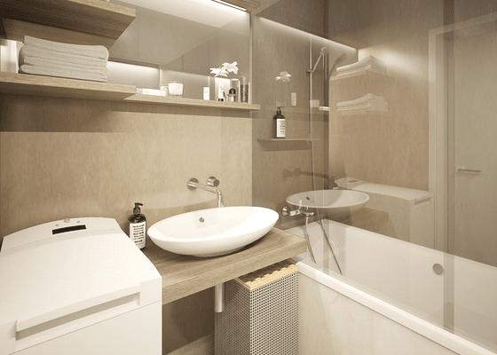 Návrh rekonstrukce panelákové koupelny a WC