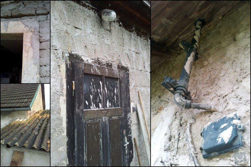 Nahození fasády chalupy v obci Dolní Město: Vysledek1