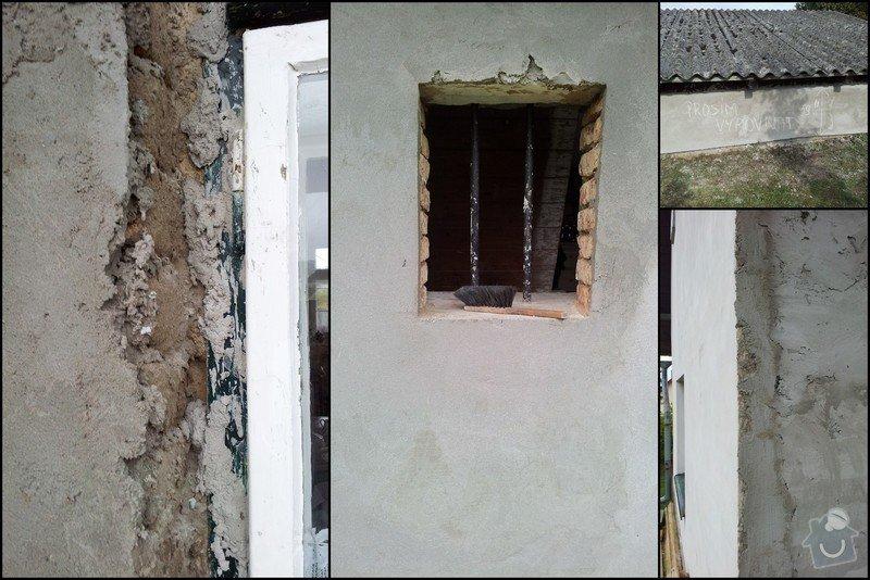 Nahození fasády chalupy v obci Dolní Město: Vysledek3