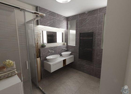 Návrh a vizualizace interiéru ložnice a dále koupelny