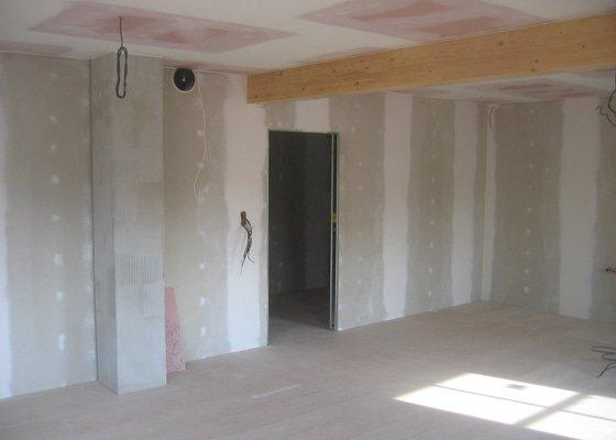Sádrokartony+podlahy-pasivní dům
