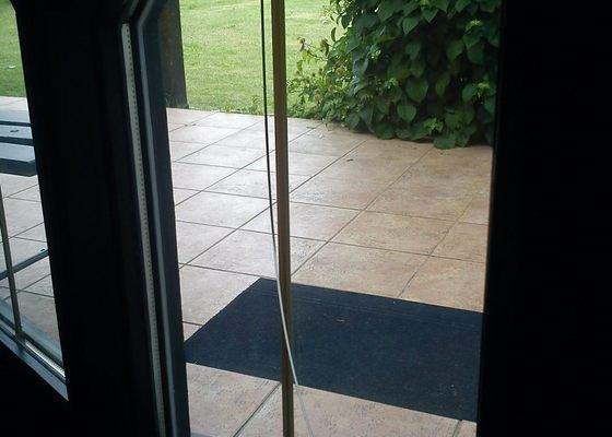 Skleněná výplň, venkovní dveře