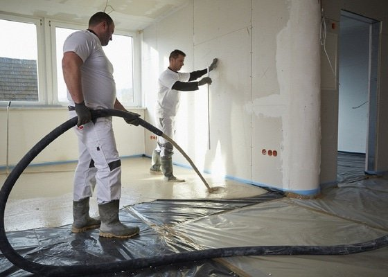 Lité anhydritové podlahy 120m2
