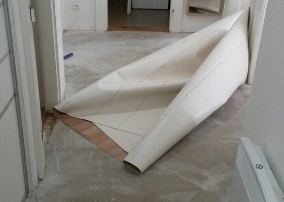 Položení lina předsíň  10m2  praha