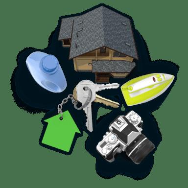 Koláž předmětů z oboru Ostatní