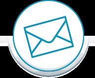 Blue circle envelope