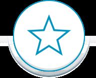 Blue circle star