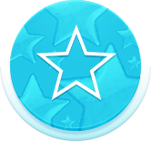 Circle blue star