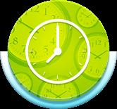 Circle green clock