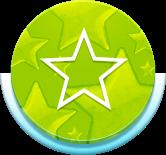 Circle green star